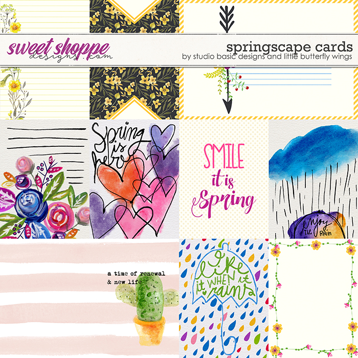 Springscape Cards by Studio Basic and Little Butterfly Wings