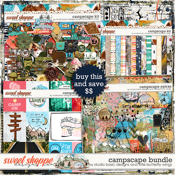Campscape Bundle by Studio Basic and Little Butterfly Wings