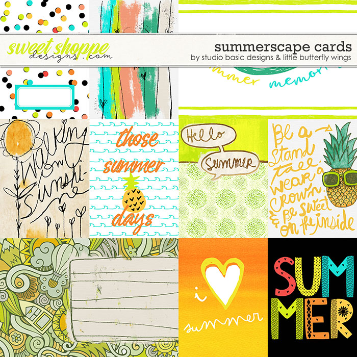 Summerscape Cards by Studio Basic and Little Butterfly Wings