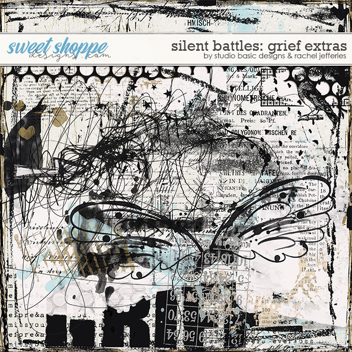 Silent Battles: Grief - Mixed Media by Studio Basic Designs & Rachel Jefferies