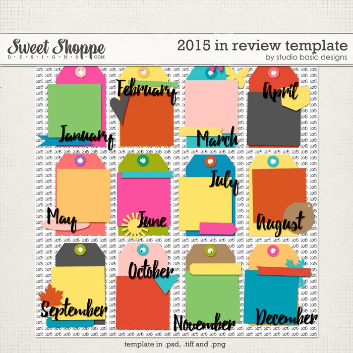 2015 In Review Template by Studio Basic
