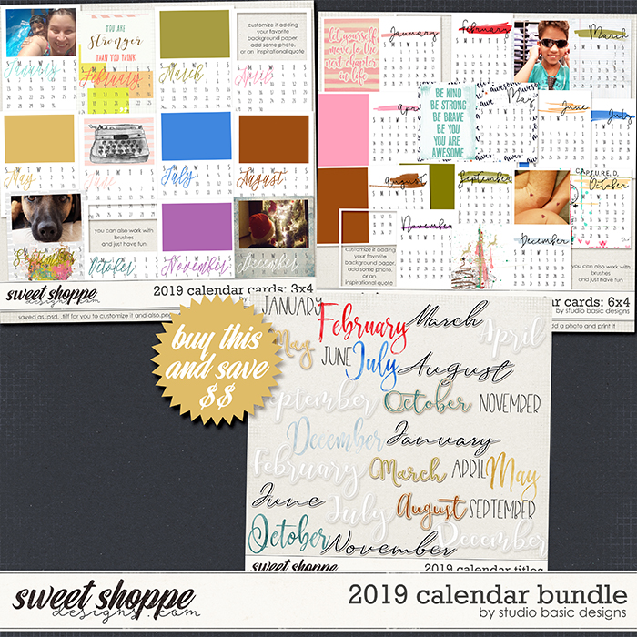 2019 Calendar Bundle by Studio Basic
