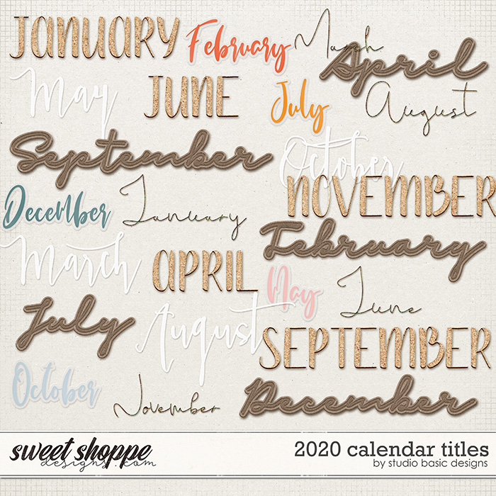 2020 Calendar Titles by Studio Basic