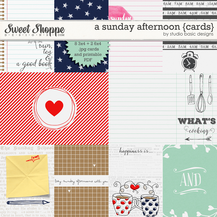 A Sunday Afternoon {Cards} by Studio Basic