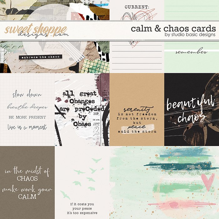 Calm & Chaos Cards by Studio Basic