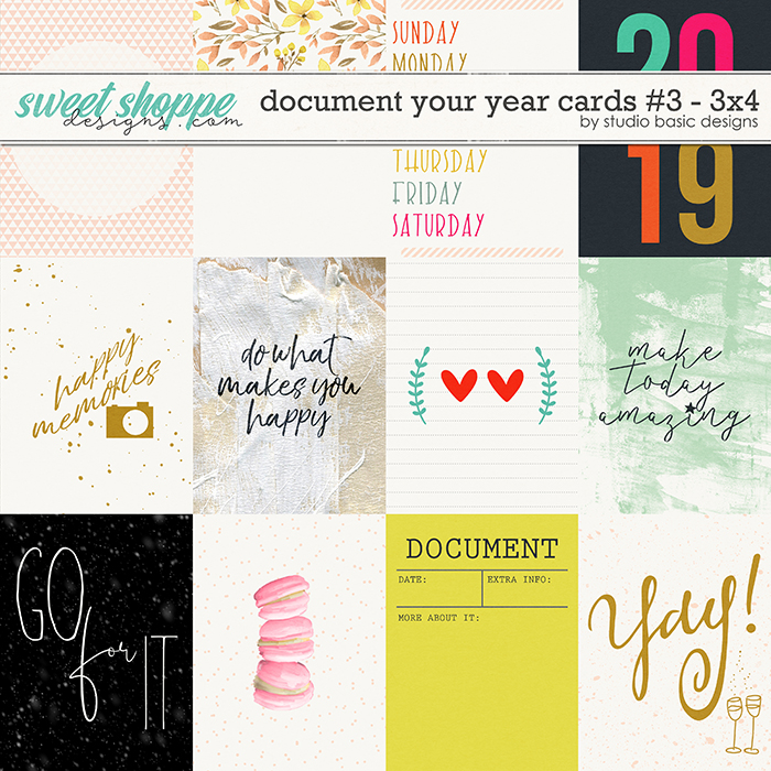 Document Your Year Cards #3 - 3x4 by Studio Basic