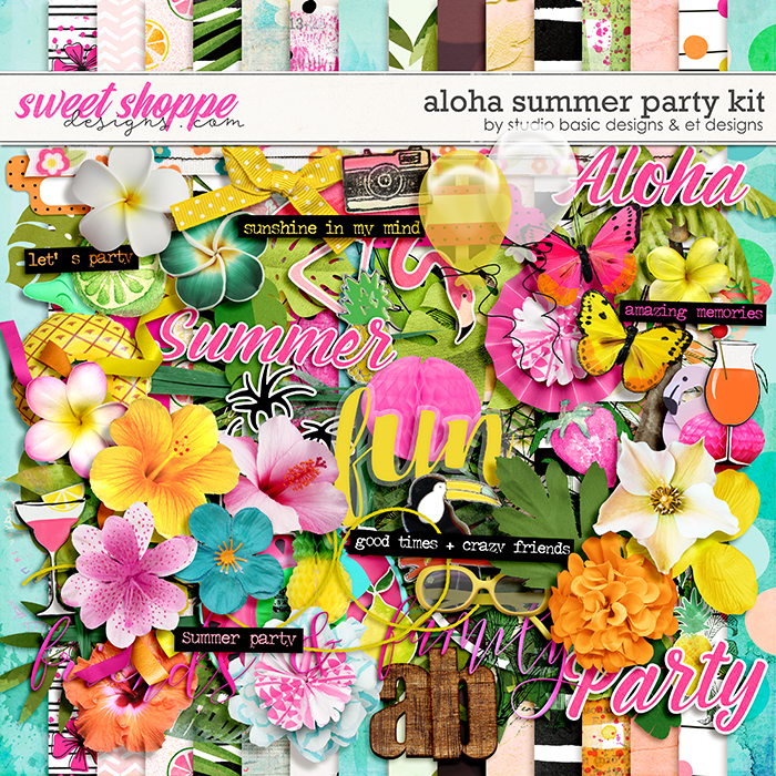 Aloha Summer Party Kit by Studio Basic and et designs