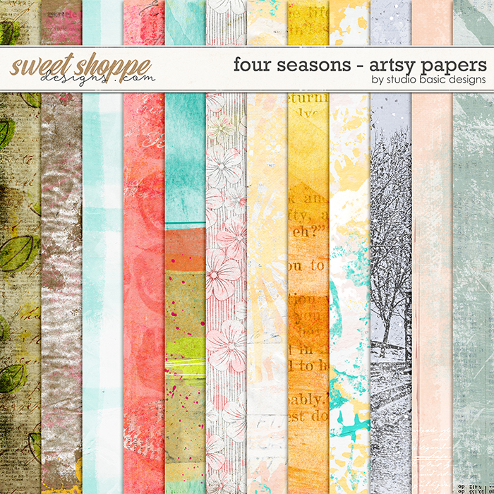 Four Seasons Artsy Papers by Studio Basic