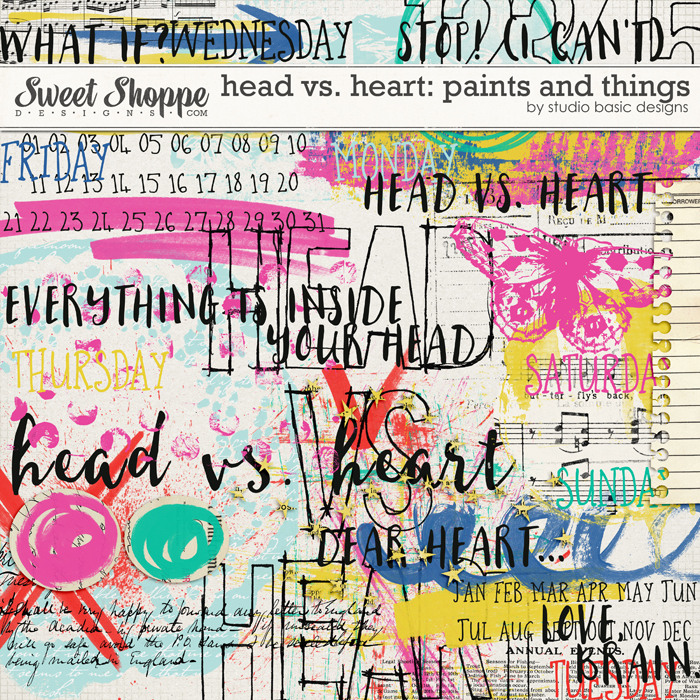 Head vs. Heart: Paints and Things by Studio Basic