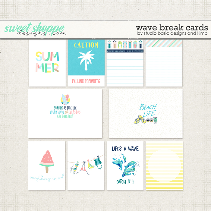 Wave Break Cards by Studio Basic and KimB