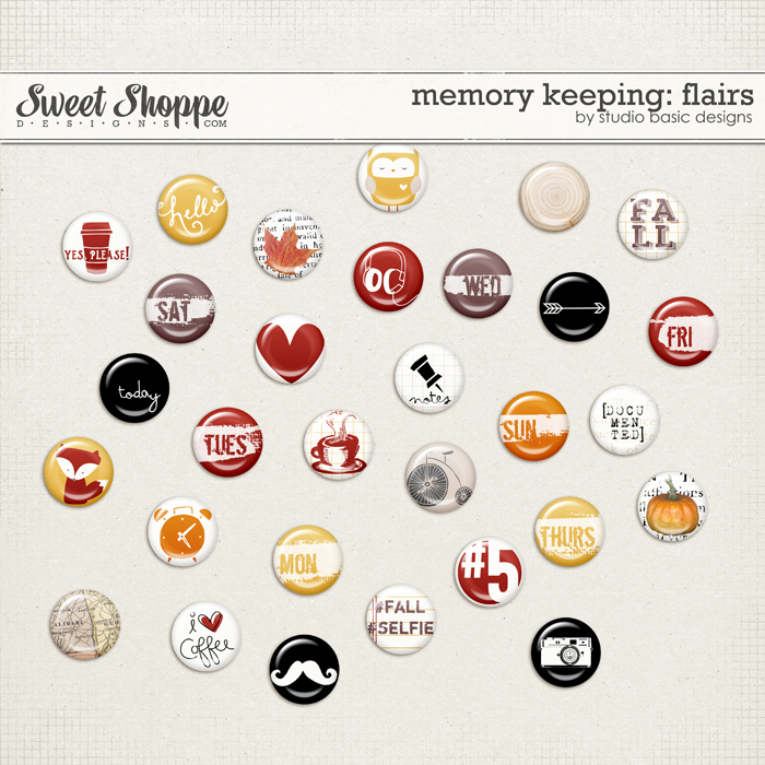 Memory Keeping: Flairs by Studio Basic