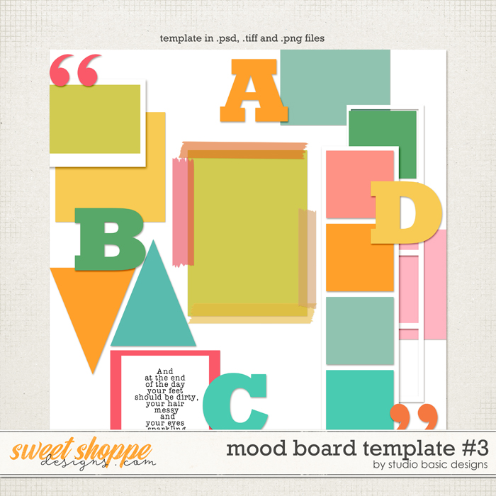 Mood Board Template #3 by Studio Basic