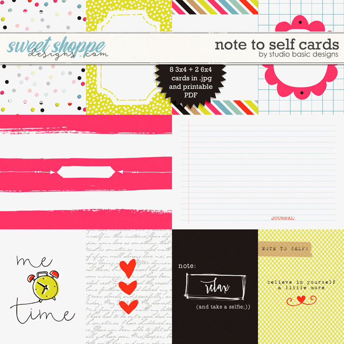 Note To Self Cards by Studio Basic