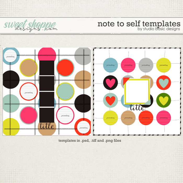 Note To Self Templates by Studio Basic