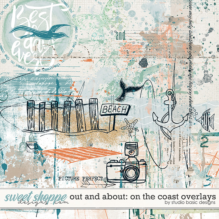 Out and About: On The Coast Overlays by Studio Basic Designs