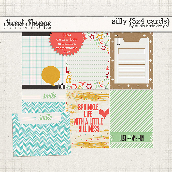 Silly {3x4 cards} by Studio Basic