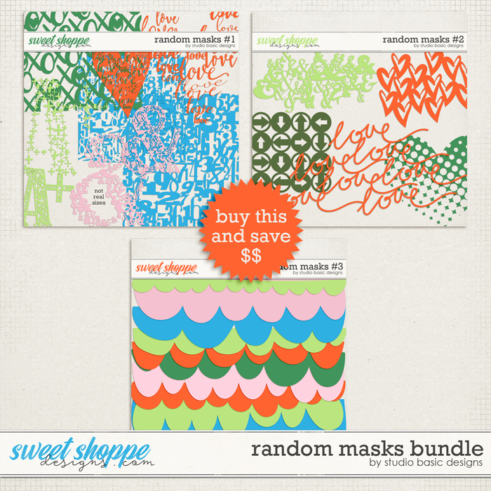 Random Masks Bundle by Studio Basic
