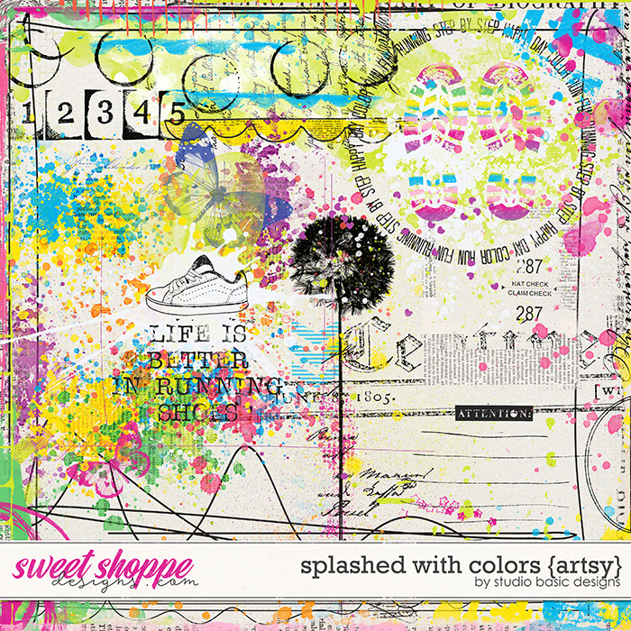 Splashed With Color Artsy by Studio Basic
