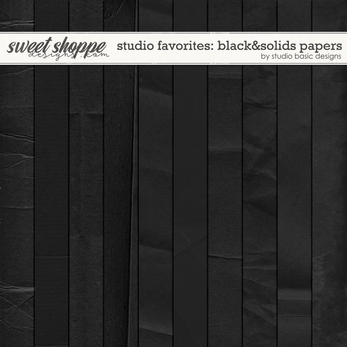 Studio Favorites: Black&Solids Papers by Studio Basic