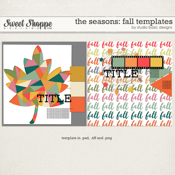 The Seasons: Fall Templates by Studio Basic