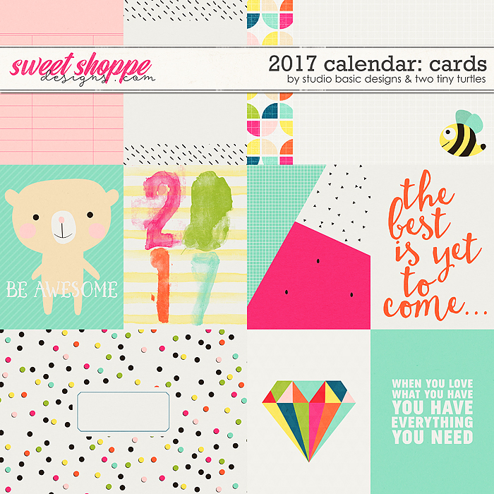 2017 Calendar: Cards by Studio Basic and Two Tiny Turtles