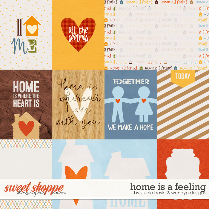 Home Is A Feeling Cards by Studio Basic and WendyP Designs