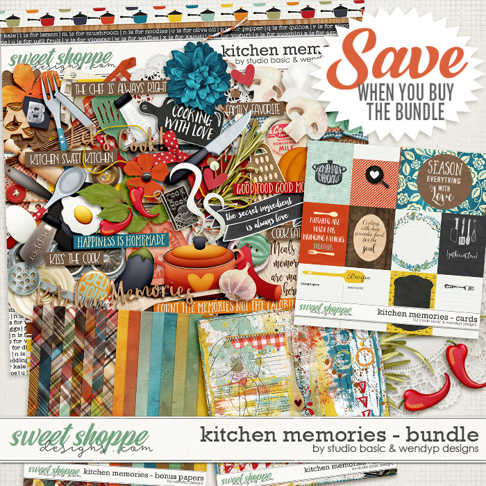 Kitchen Memories Bundle by Studio Basic and WendyP Designs