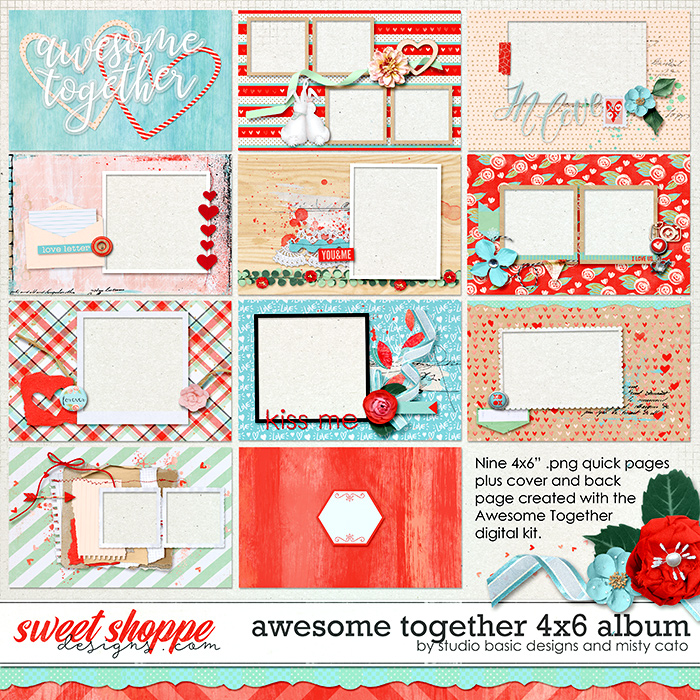 Awesome Together 4x6 Album by Studio Basic Designs and Misty Cato