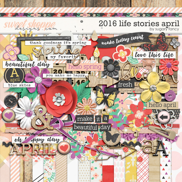 2016 Life Stories - April Kit by Sugary Fancy