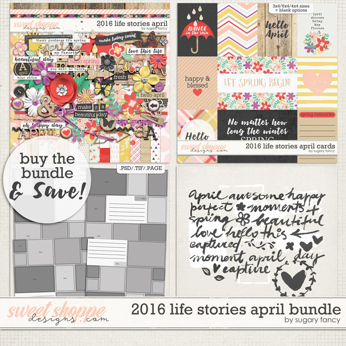 2016 Life Stories - April Bundle by Sugary Fancy
