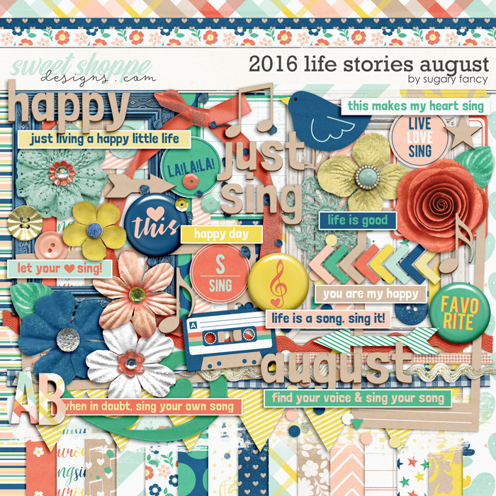2016 Life Stories - August Kit by Sugary Fancy