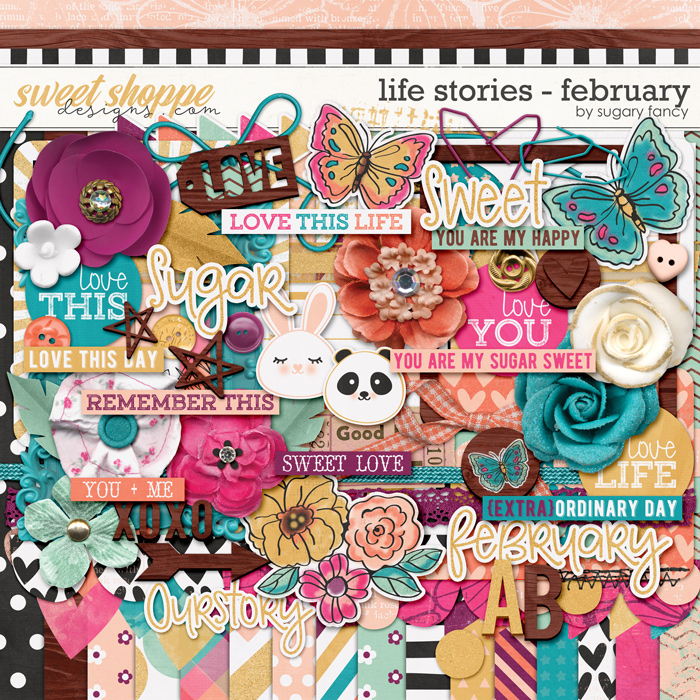 2016 Life Stories - February Kit by Sugary Fancy