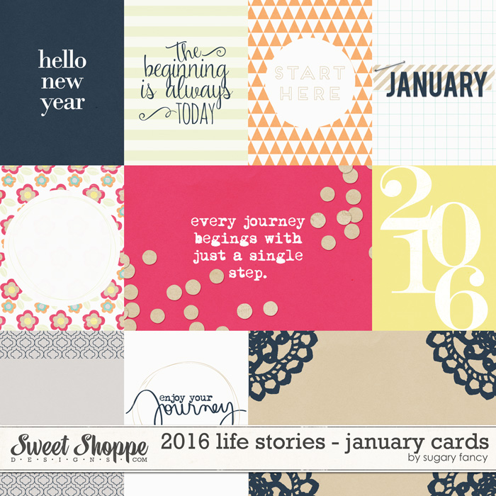 2016 Life Stories - January Cards by Sugary Fancy