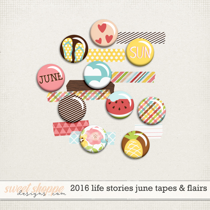2016 Life Stories - June Tapes & Flairs by Sugary Fancy