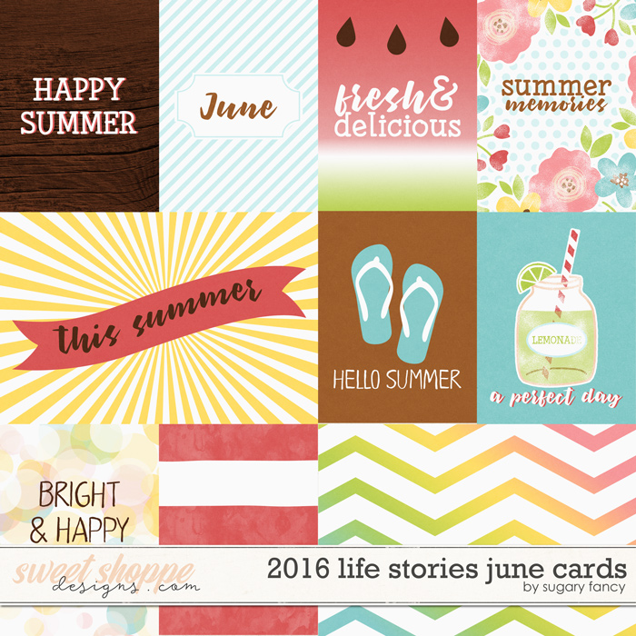 2016 Life Stories - June Cards by Sugary Fancy