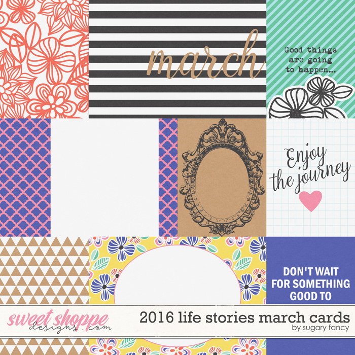 2016 Life Stories - March Cards by Sugary Fancy