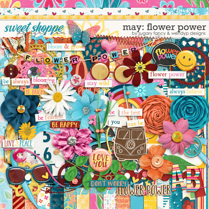 May: Flower Power by Sugary Fancy and WendyP Designs