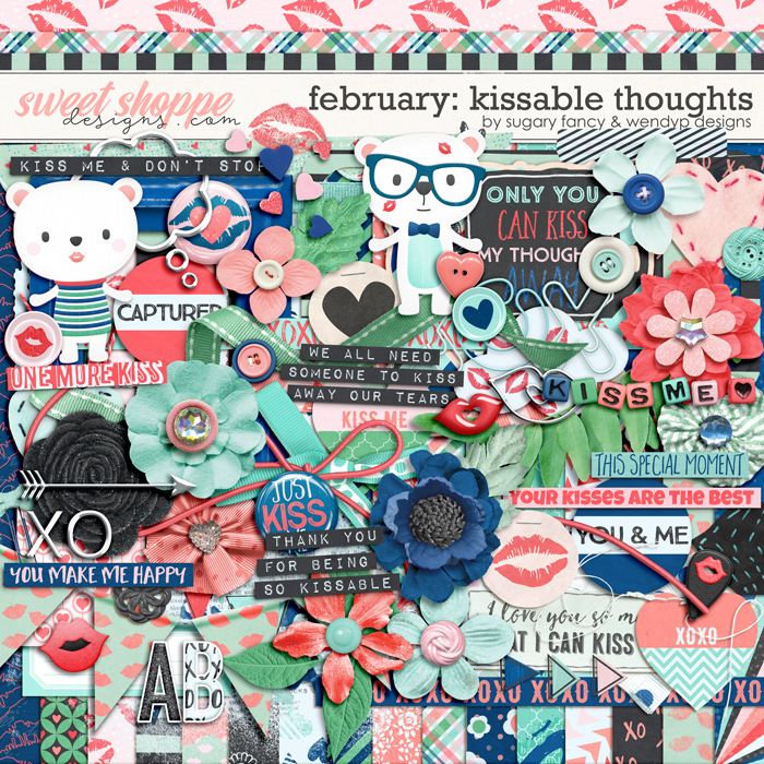 February: Kissable thoughts by Sugary Fancy and WendyP Designs