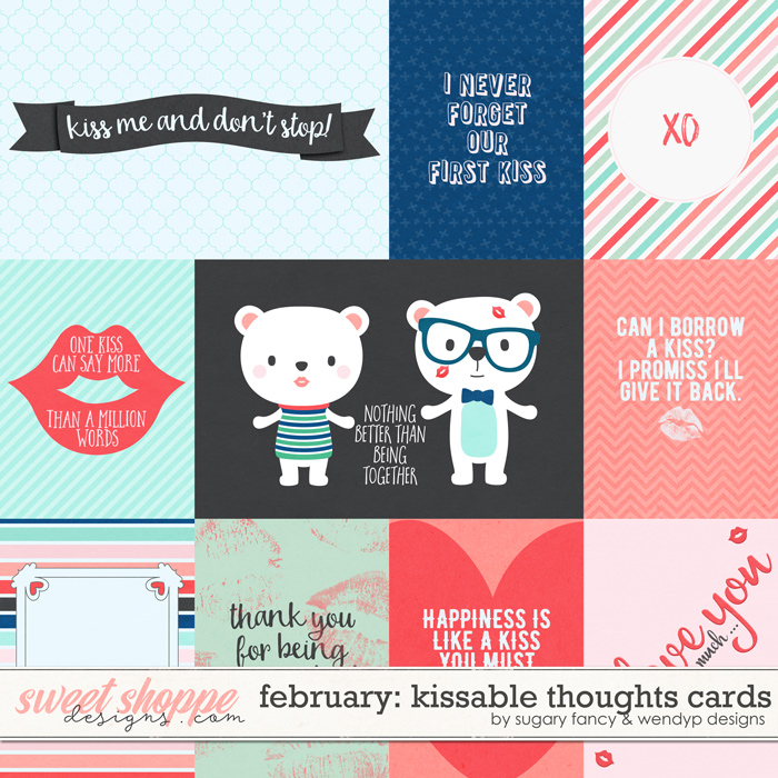 February: Kissable thoughts - cards by Sugary Fancy and WendyP Designs