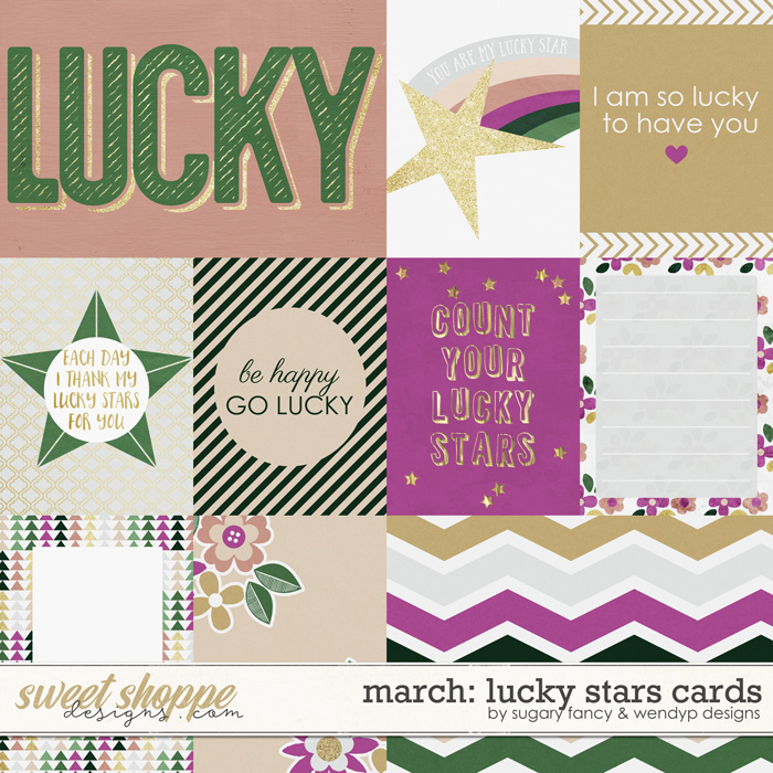 March: Lucky stars - Cards by Sugary Fancy & WendyP Designs