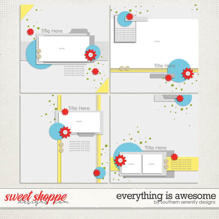 Everything is Awesome Layered Templates by Southern Serenity Designs