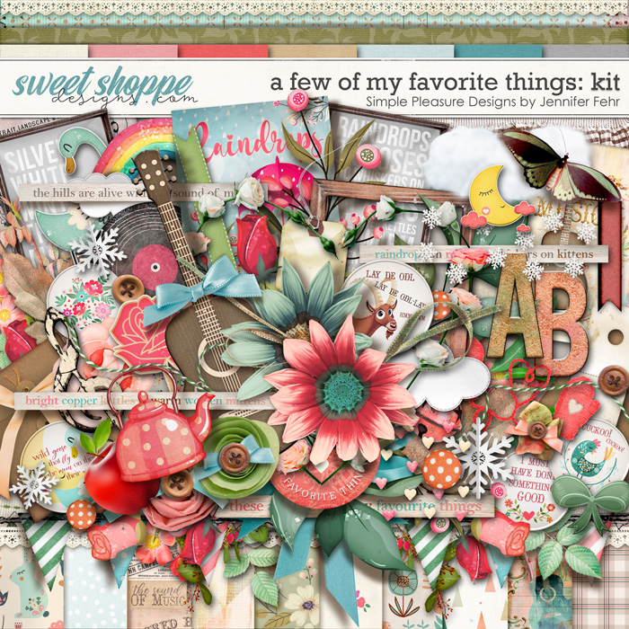 a few of my favorite things kit: Simple Pleasure Designs by Jennifer Fehr