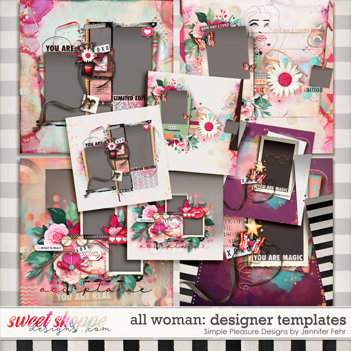 all woman designer templates: simple pleasure designs by jennifer fehr