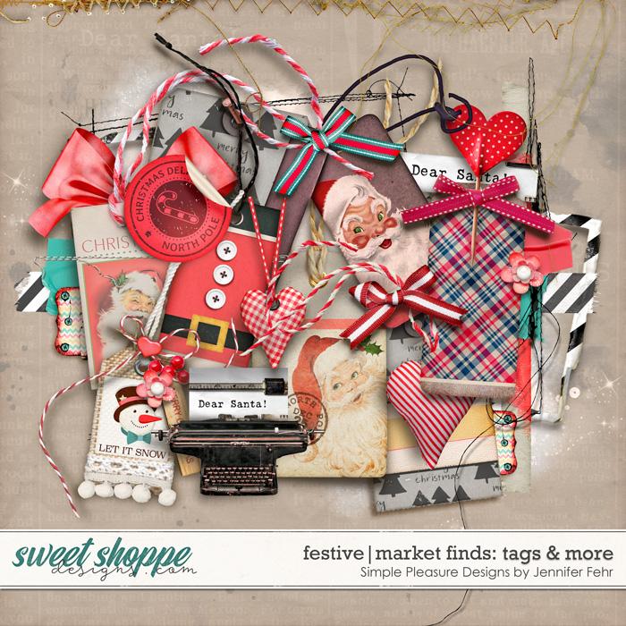 festive market finds tags & more: simple pleasure designs by jennifer fehr