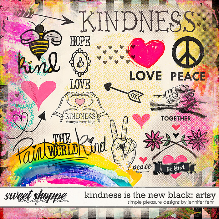 kindness is the new black: artsy pack