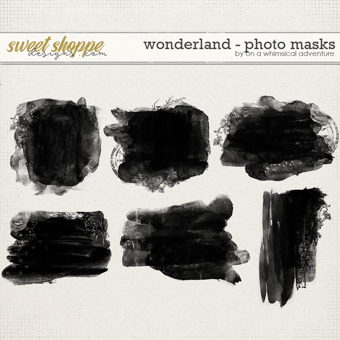 Wonderland Photo Masks by On A Whimsical Adventure
