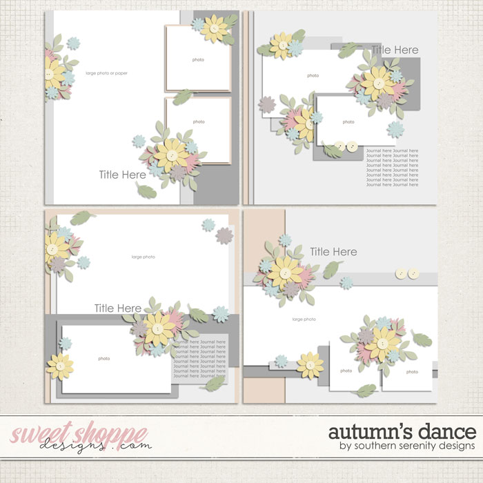 Autumn's Dance Layered Templates by Southern Serenity Designs