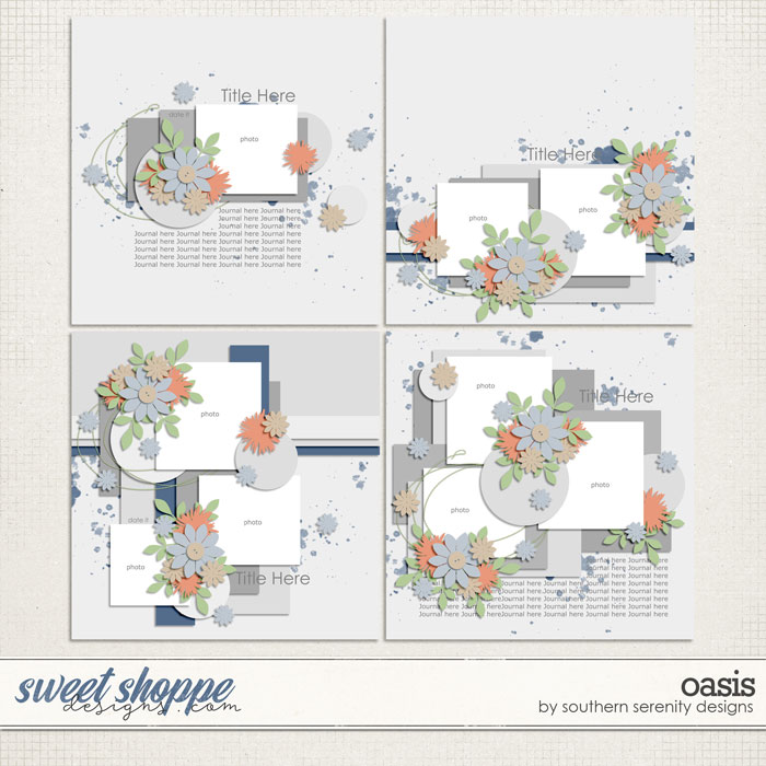 Oasis Layered Templates by Southern Serenity Designs