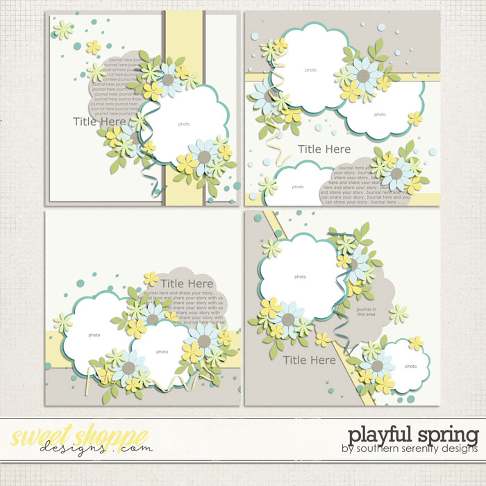 Playful Spring Layered Templates by Southern Serenity Designs