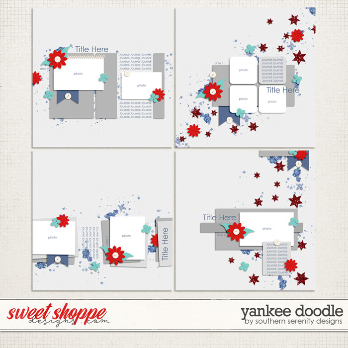 Yankee Doodle Layered Templates by Southern Serenity Designs